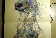 Artsy Drawing / Art, in drawings.