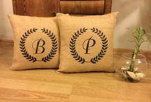 Burlap Pillow / Burlap Pillow