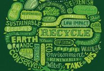 "Infographics & More / This board will display explanations of whether or not common household items can be recycled and/or reused.  Basically it will answer the question,""What happens to my recycling once I put it in the bin?""