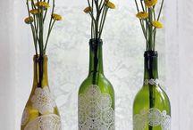 garrafas rendas