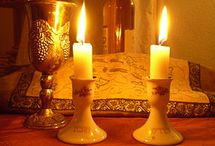 Shabbat and Jewish Life / On Shabbat Jews recall the biblical creation account in Genesis, describing God creating the Heavens and the Earth in six days and resting on the seventh. It also recalls the giving of the Torah at Mount Sinai, when God commanded the Israelite nation to observe the seventh day and keep it holy. / by Edelmira Brown