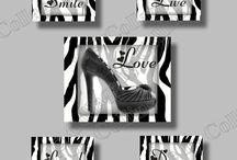 Zebra Print / Zebra Print Wall Art Decor Prints inspirational motivational