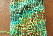 編み物、手