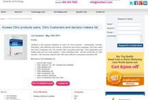 Email Marketing List of Citrix   Citrix Users Database / List2Tech provides premium services to marketers in need of Citrix Customers List who have the critical decision making authority. http://www.list2tech.com/citrix-software-users-customers-marketing-email-list.php