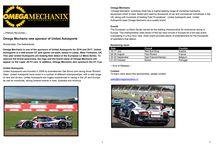 Omega Mechanix persbericht / Omega Mechanix persbericht
