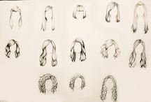 Desenhos de cabelos