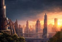 Futuristic City Sunsets / Finding inspiration in futuristic cityscapes at the moment