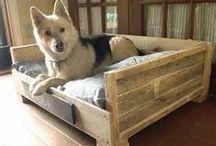 Cama para cachorro de paletes