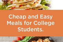 Cheap and Easy Meals for College Students / Cheap, healthy and quick meal planning ideas for college students on a budget. Repin these fast and easy recipes that can help you with saving time and saving money while getting your degree!