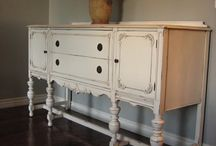 Painted french sideboards, buffet and cupboards