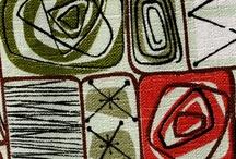 vintage atomic, retro abstract geometric, eames era, 50s fabric