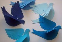 Paper, birds