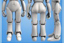 She Gini / 3D Robot She Gini Sci-Fi