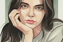 Adobe illustrator portrait