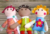 fabric haired dolls