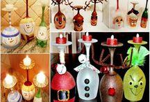 christmas wine glass candles