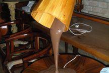 Wooden lamp handmade design / Lampade artigianali in legno di design