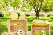 Pink & Yellow Lemonade Stand Birthday Party / Party inspiration board for a pink and yellow lemonade stand birthday party!
