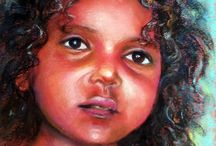 My Portraiture and Figurative Work / Portraits and Figurative art in watercolor and soft pastels
