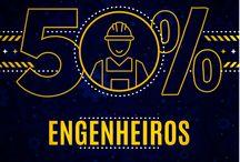 50% engenheiros