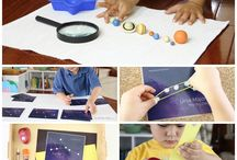 Space themed activities / Space themed activities for preschoolers and toddlers!  #montessori, #printables, #toddleractivities, #handsonlearning