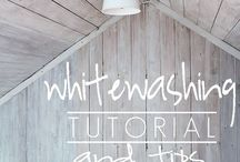 Whitewashing wood