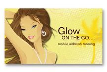 spraytan business card ideas