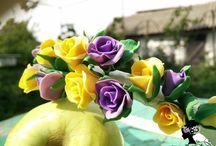 Ободки, заколки, браслеты с цветами из полимерной глины / Мои работы из полимерной глины http://vk.com/katy.ermolenko