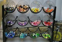 Crafty Organization / When your supplies are easy to see and pretty to look at, you imagine using them more, don't you?