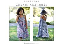 Cascade Maxi Dress / Come find inspiration for your Cascade Maxi Dress - a pdf sewing pattern.