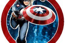 Capitão América adesivo