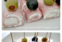 Easy apitiser cream cheese roll up