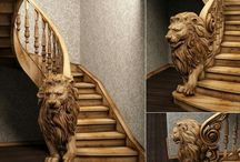 Ahşap - Wooden - Handrail -Epoxy Table