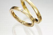 Alianzas de oro amarillo/ Yellow gold wedding bands / Alianzas para bodas.