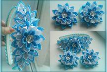 Květinky z textilu