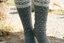 Strikke sokker