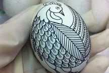 kreslená vajíčka