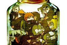 Anime characters in the bottle! :3