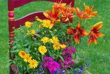 Květinové židle