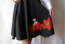 Hand painted Skirt on Etsy shop