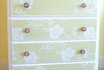 Wall paper furniture