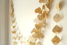 Paper hearts garlands