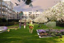Groen / groene inspiratie voor op en rond braakliggende terreinen en bouwplaatsen