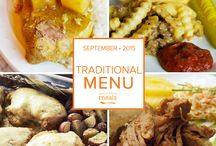 Traditional Freezer Menu September 2015 / Our Traditional September Menu is stuffed to bursting with tasty meals to keep back to school season sane.  / by Once A Month Meals