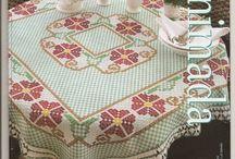 Bordados tecido xadrez