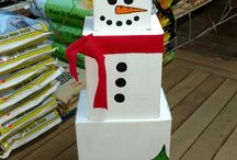 Christmas cardboard box