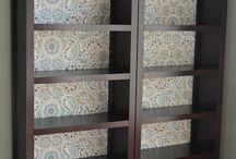 Bookshelves/ wall hangings