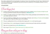 Wedding - organizing tips and planners / by Denise Burridge