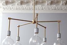 brass globe chandelier