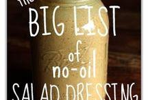 No Oil Vegan Dressings